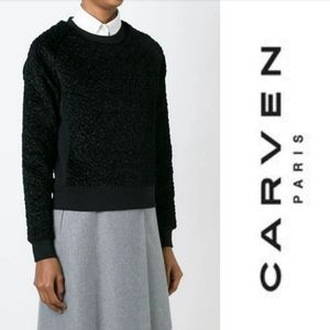 Carven boucle pullover sweater crew neck
